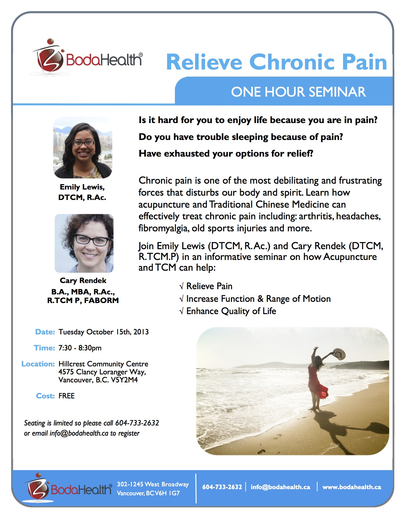 Relieve Chronic Pain - One Hour Seminar