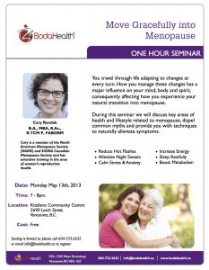 Move Gracefully into Menopause