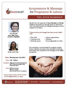 Acupressure & Massage for Pregnancy and Labour