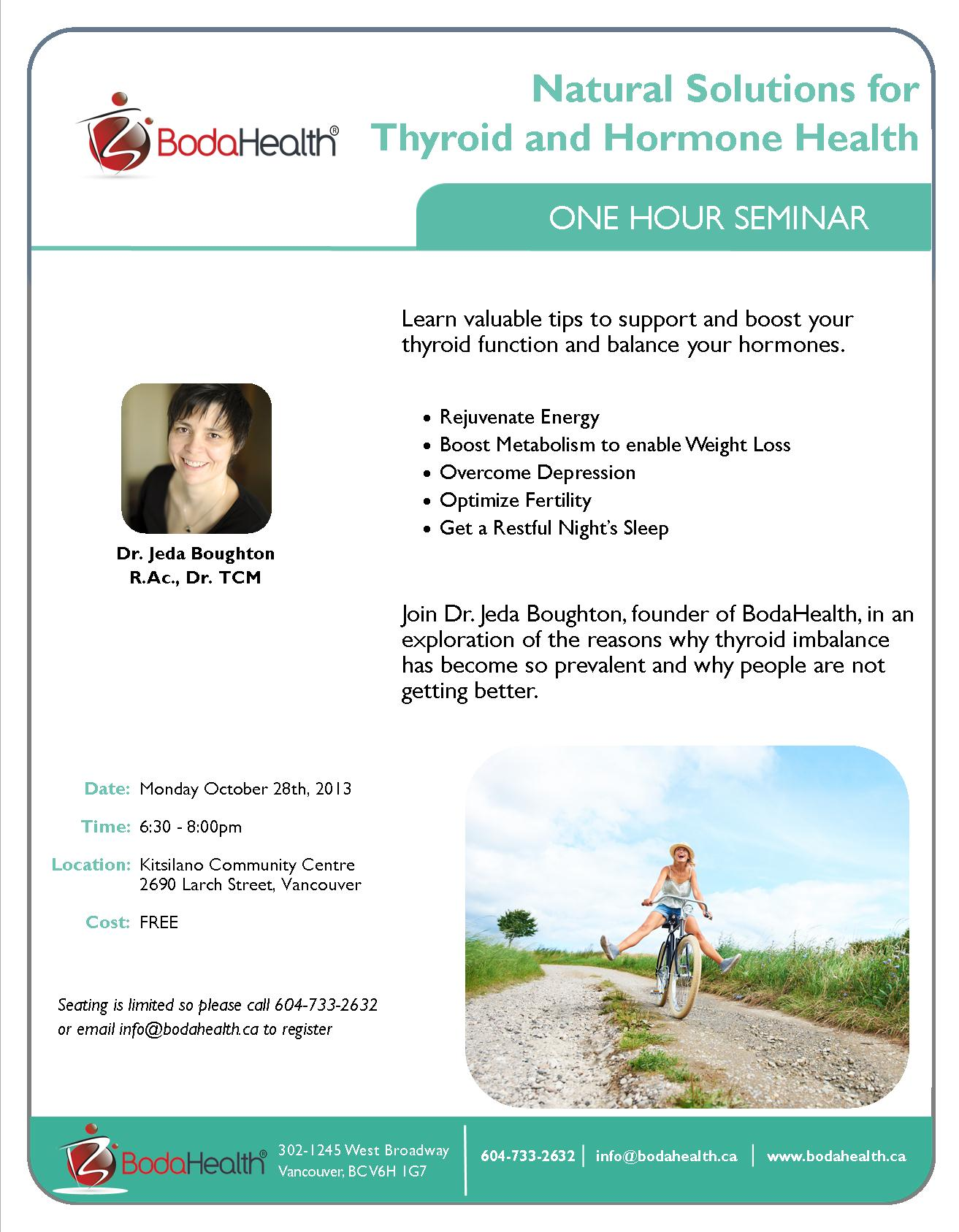 Natural Solutions for Thyroid and Hormone Health - Live Seminar