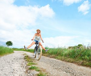 shutterstock woman on Bike