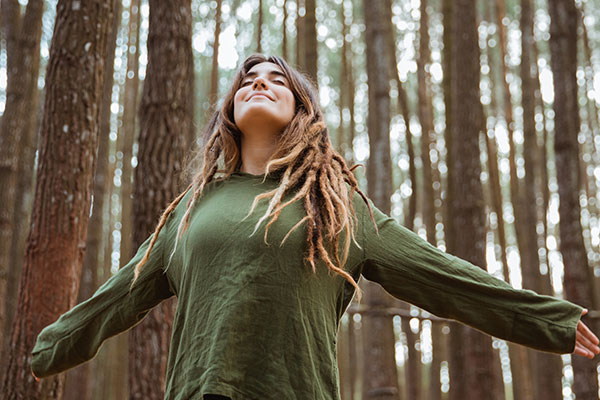 Woman in the woods - The role of aroma therapy and essential oils in Chinese medicine.