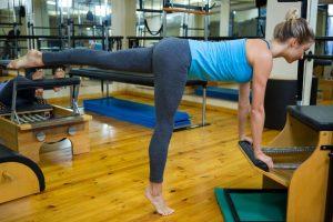 pilates exercise program on display