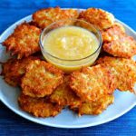 baked sweet potato latkes for hanukkah
