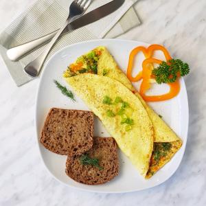 Omelette Herb and Veggie Recipe