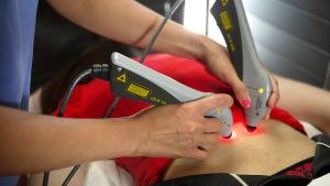 back treatment through cold laser therapy