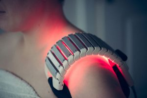 cold laser therapy being used at Bodahealth Vancouver